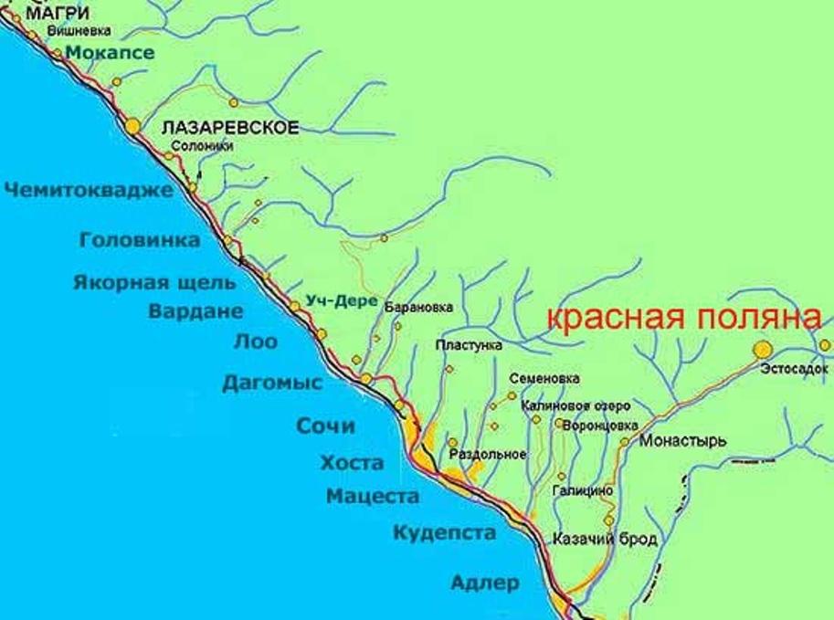 уникальными характеристиками лоо побережье фото и карта отличие